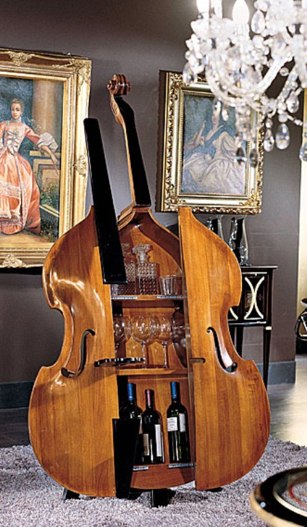 home-contrabass-bar-2 Beautiful Double Bass Wine Cabinet